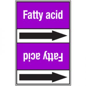 Roll form Pipe Markers with liner, without pictograms - Acids & Alkalis