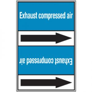 Roll form Pipe Markers with liner, without pictograms - Air